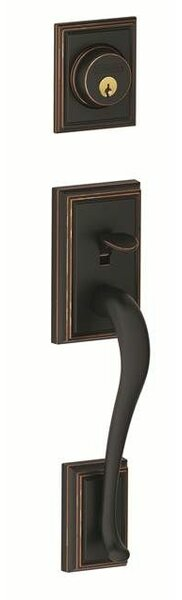 Addison Handleset with Double Cylinder Deadbolt and Siena Knob by Schlage
