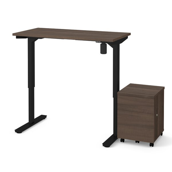 Clare 2-Piece Electric Height Adjustable Desk Office Suite by Symple Stuff