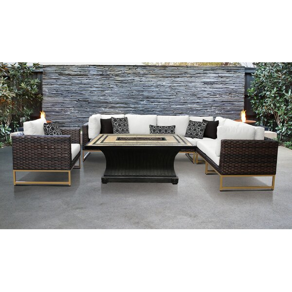 Mcclurg 8 Piece Sectional Seating Group with Cushions by Darby Home Co