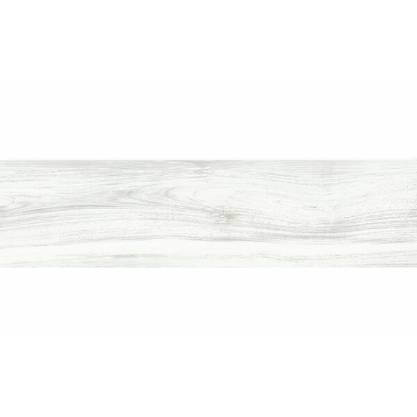 Deck 8 x 48 Porcelain Wood Look/Field Tile in White by Tesoro