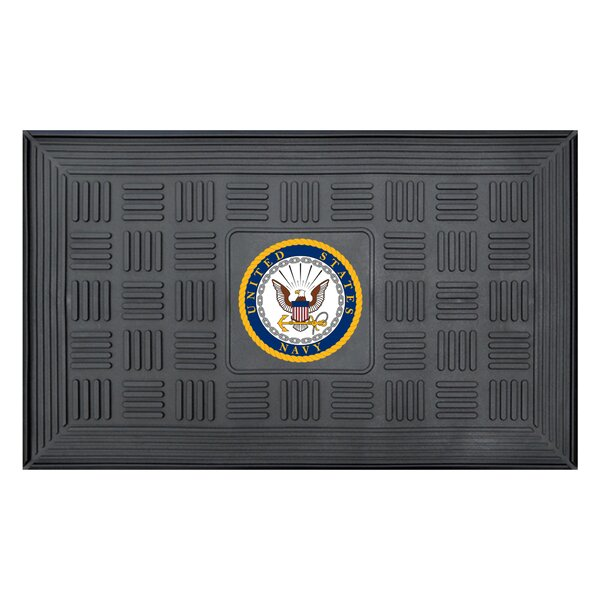 MIL U.S. Coast Guard Medallion Doormat by FANMATS