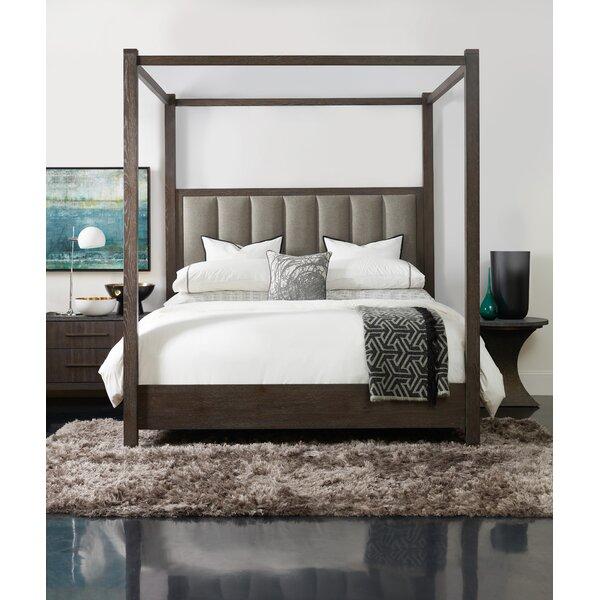 Miramar Aventura Jackson Upholstered Four Poster Bed by Hooker Furniture