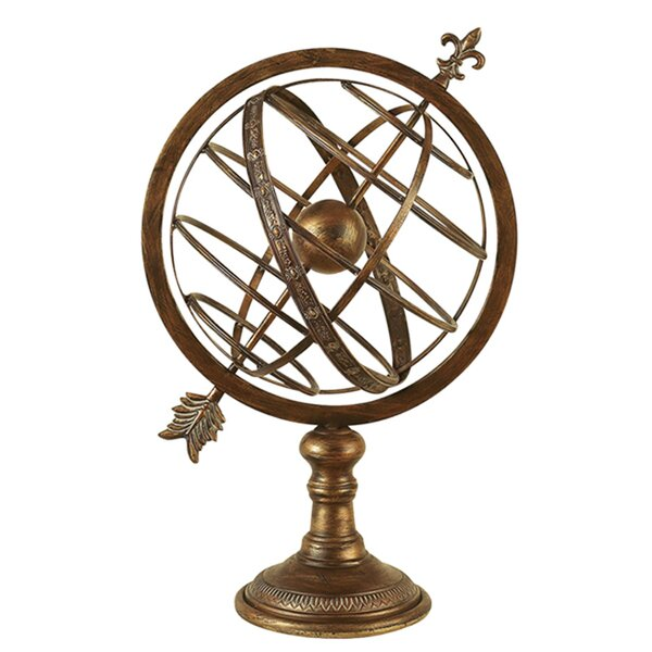 Engraved Metal Armillary Nautical Celestial Sphere Globe by EC World Imports