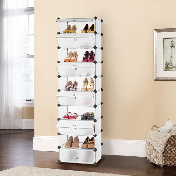 Diy Modular Tower Multi Use Storage Combination Freestanding Cabinet 20 Pair Stackable Shoe Rack