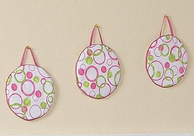 3 Piece Circles Pink Hanging Art Set by Sweet Jojo Designs
