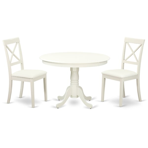 Travis Solid Wood Dining Set by August Grove August Grove