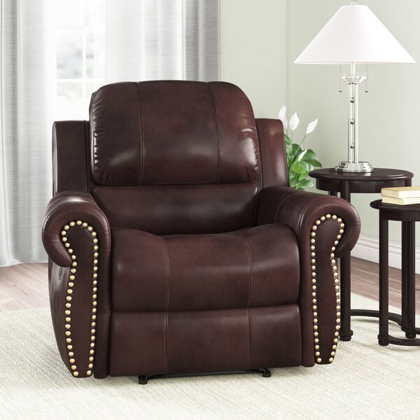 Barnsdale Leather Manual Recliner By Darby Home Co