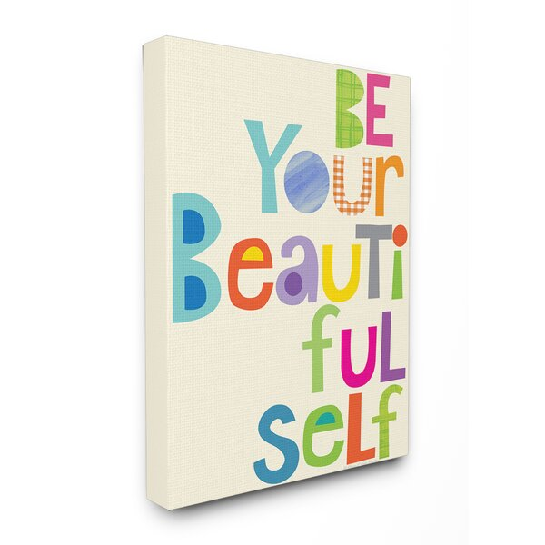 Be Your Beautiful Self Patchwork Canvas Wall Art by Stupell Industries