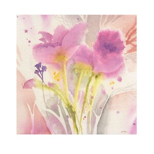 Magenta Duo by Sheila Golden Painting Print on Wrapped Canvas by Trademark Fine Art