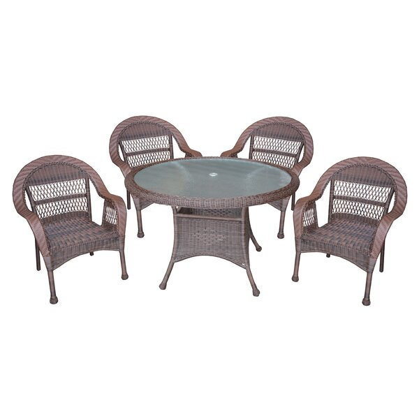 Draeger Traditional 5 Piece Dining Set