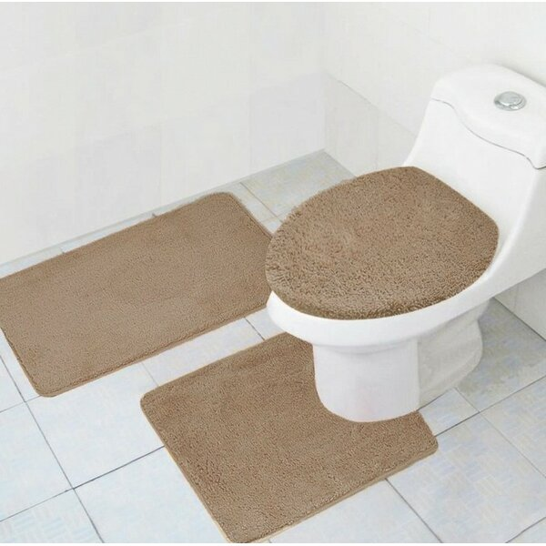 Cote 3 Piece Bath Rug Set by Red Barrel Studio