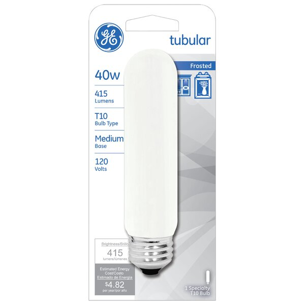 40W Frosted 120-Volt (2550K) Light Bulb by GE