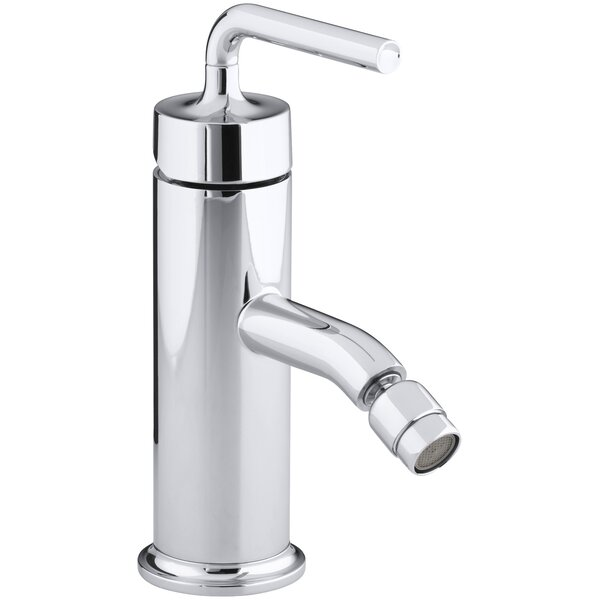 Purist Horizontal Swivel Spray Aerator Bidet Faucet with Straight Lever Handle by Kohler