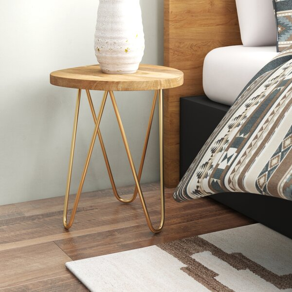 Nadia 3 Legs End Table By Union Rustic