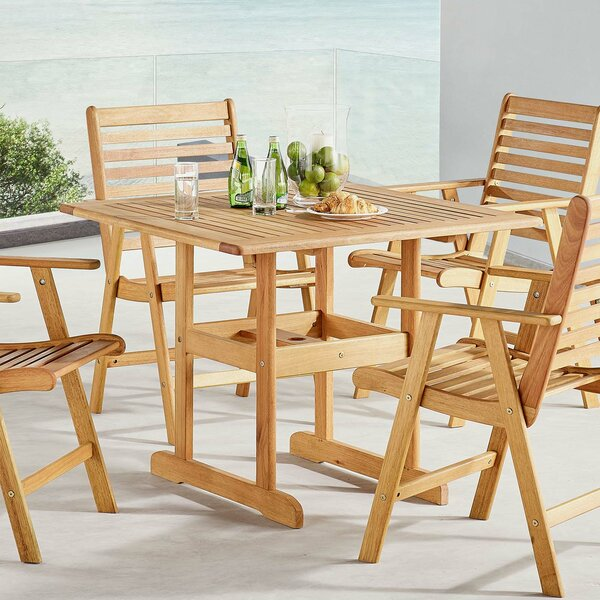 Sharice Wooden Dining Table by Highland Dunes