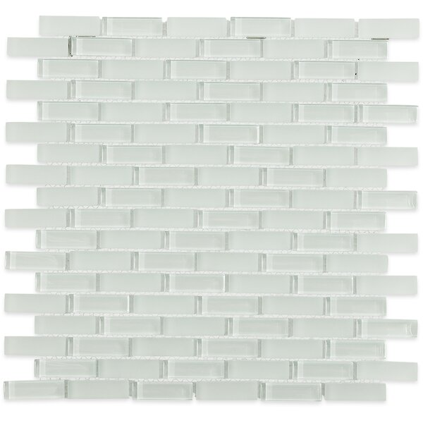 Contempo 0.6 x 2 Glass Mosaic Tile in White by Splashback Tile
