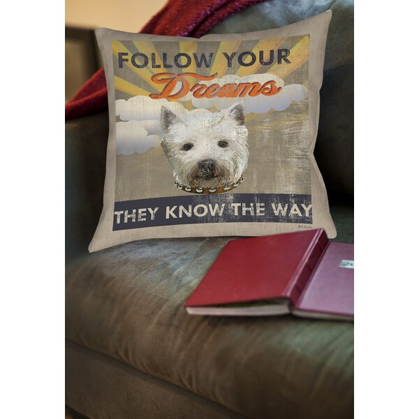 Dog Days - Pek Pup Printed Throw Pillow by Manual Woodworkers & Weavers