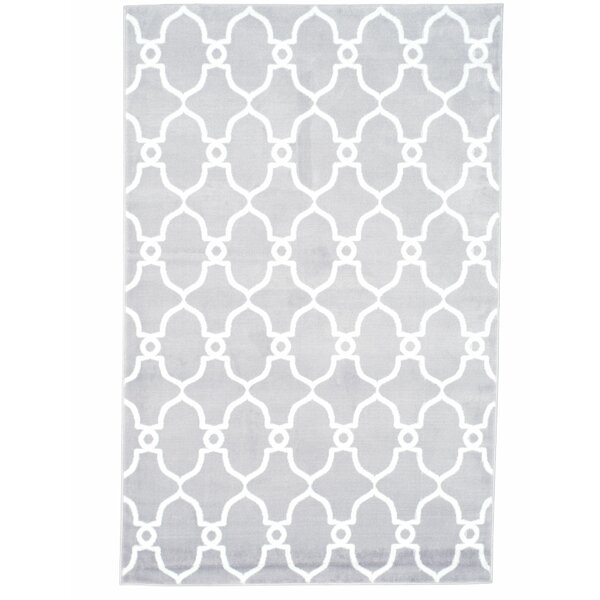 Lattice Gray Area Rug by Plymouth Home