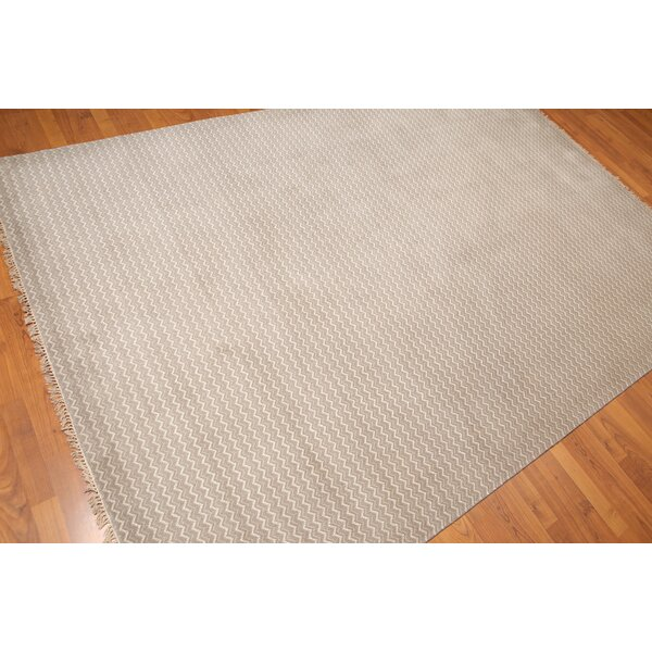 One-of-a-Kind Bivens Hand-Knotted Wool Gray Area Rug by Foundry Select