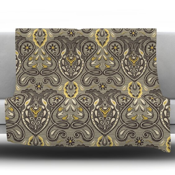 Vintage Damask by Suzie Tremel Fleece Throw Blanket by KESS InHouse