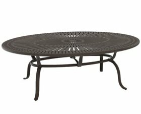 Spectrum Cast Aluminum Dining Table by Tropitone