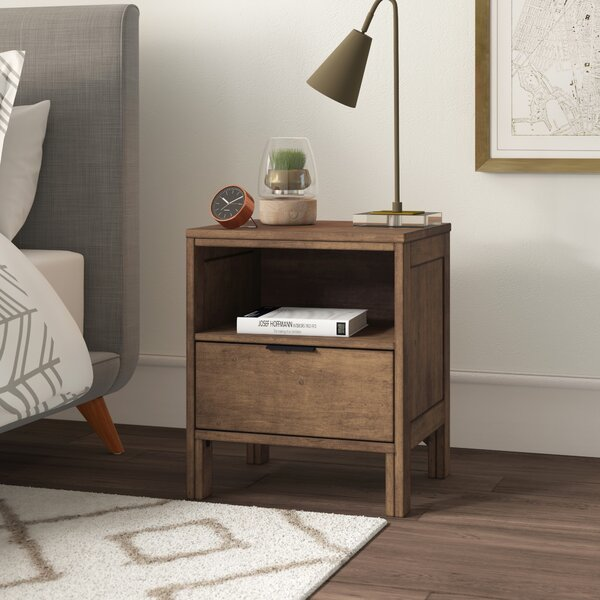 Hosier 1 Drawer Nightstand by Mercury Row