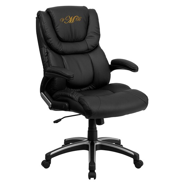 Personalized Leather Executive Chair by Flash Furniture