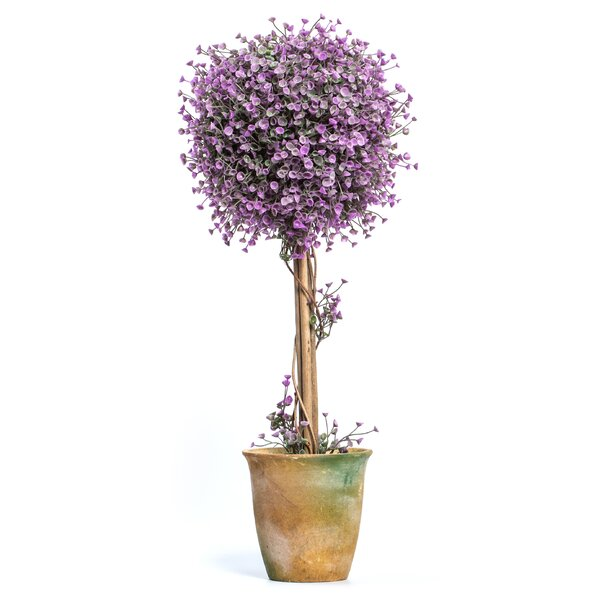 Single Flowering Topiary in Pot by Ragon House Collection