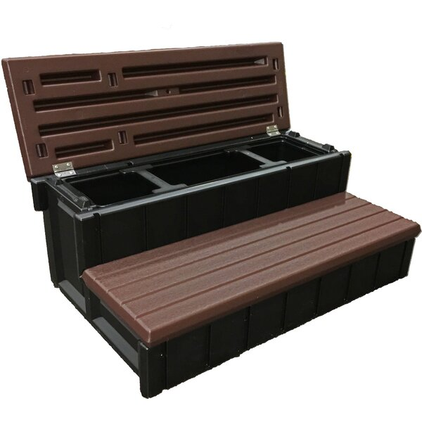 Storage Spa Steps by Leisure Accents