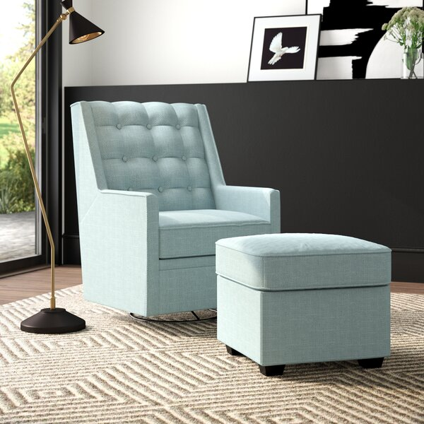 West Hill Swivel Glider And Ottoman
