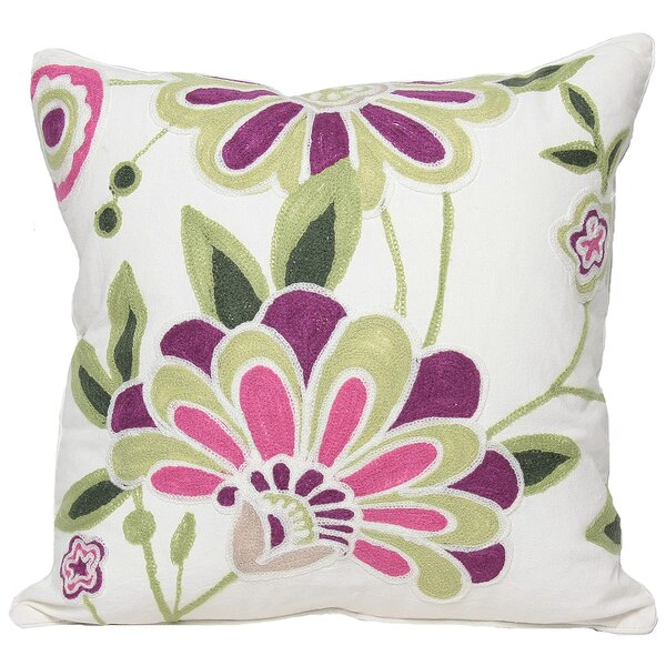 Flora Cotton Throw Pillow by Manor Luxe