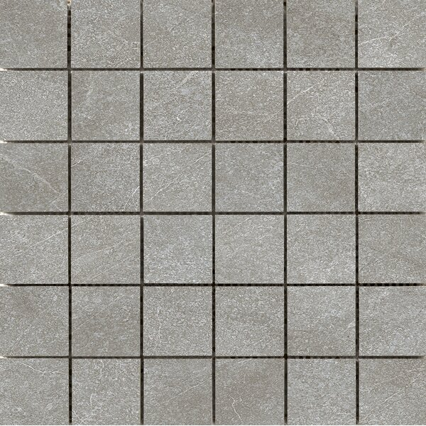 Anthem 2 x 2 Ceramic Mosaic Tile in Gray by Emser Tile