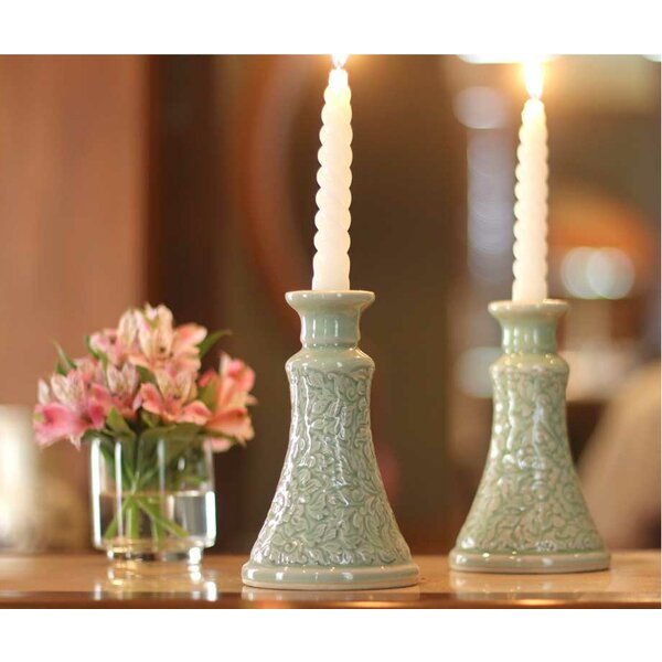 Ceramic Candlestick (Set of 2) by Novica