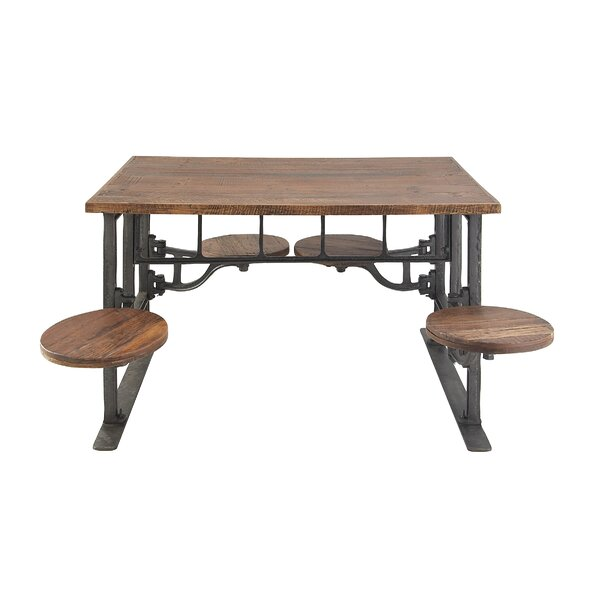 Emestina Rustic Dining Table by 17 Stories