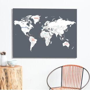 rati world map paper print