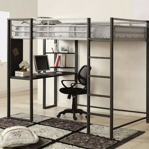 Amazing Saint Louis Full Loft Bunk Bed With Desk And Shelf