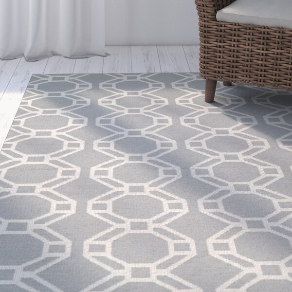 Fowler Gray/Cream Indoor/Outdoor Area Rug by Beachcrest Home