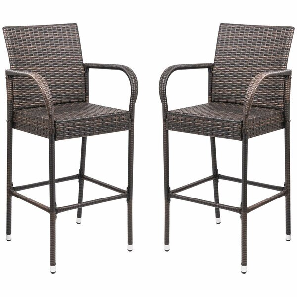 Dalessio Outdoor Garden 30-inch Patio Bar Stool (Set Of 2) By Bay Isle Home