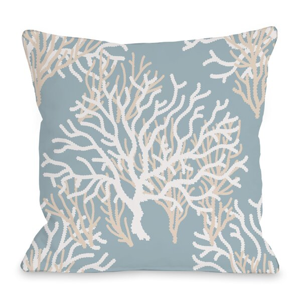 Coral Throw Pillow by One Bella Casa