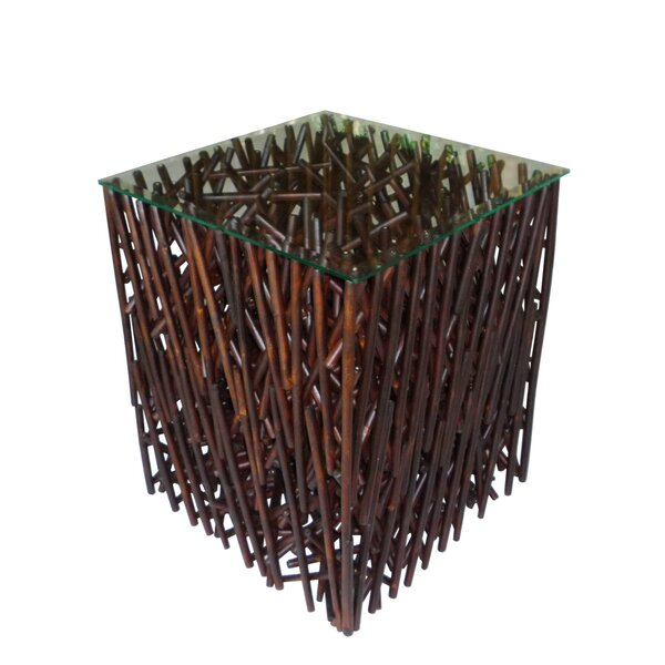 Lundeen Maze Bamboo End Table by Bay Isle Home