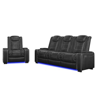 Alexane 2 Piece Faux Leather Reclining Living Room Set by Orren Ellis