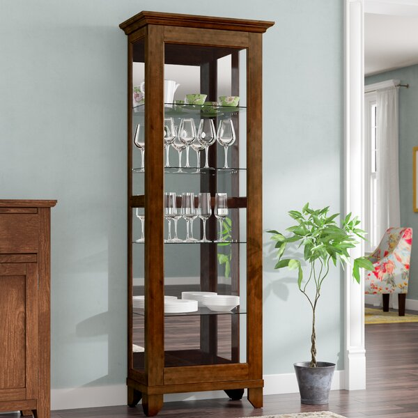 Monrovia Lighted Curio Cabinet by Alcott Hill