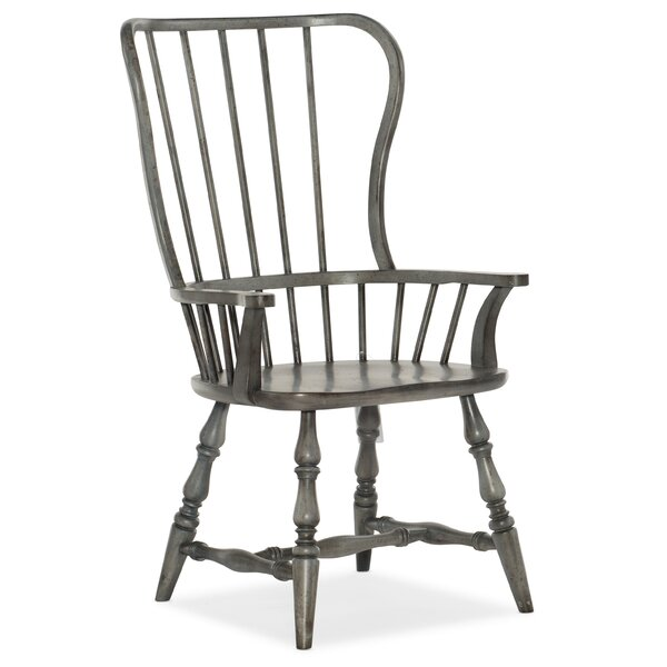 Ciaobella Modified Windsor Back Arm Chair In Gray By Hooker Furniture