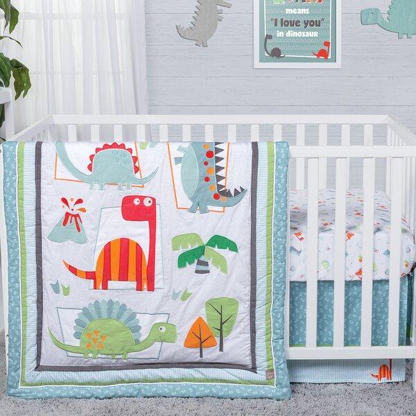 Dinosaur Roar 3 Piece Crib Bedding Set by Trend La