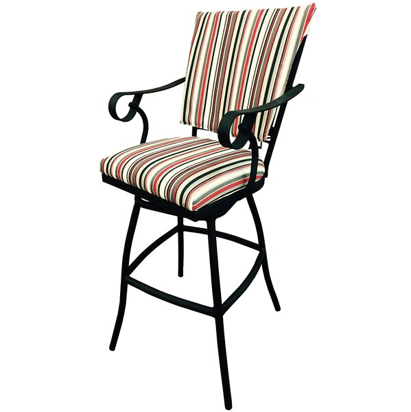 Jenna 30 Patio Bar Stool with Cushion by Tobias Designs