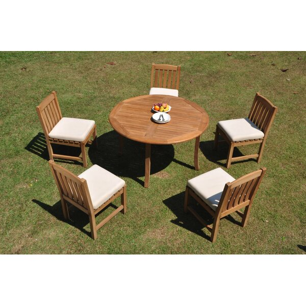 Caitlyn 6 Piece Teak Dining Set by Rosecliff Heights