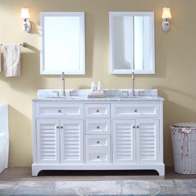 Ari Kitchen Bath Madison 60 Double Bathroom Vanity Set Reviews Wayfair