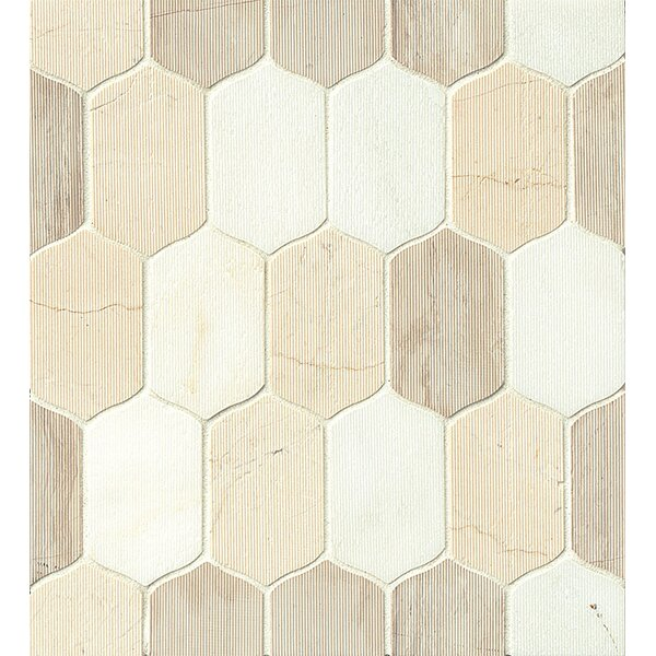 Villa Paz Stone Mosaic Tile in Glossy Rio by Grayson Martin