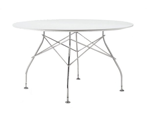 Glossy 51.33 Round Pedestal Table by Kartell