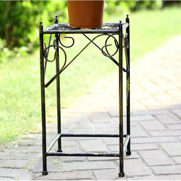 Lattice Square Medium Cast-Iron Plant Stand by ORE Furniture